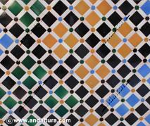 La Alhambra y el Generalife: Alicatado en el Patio de los Arrayanes