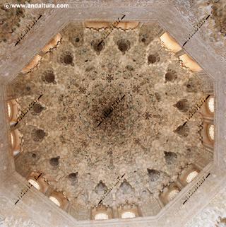 La Alhambra y el Generalife: Cúpula mocarabe de la Sala de Dos Hermanas