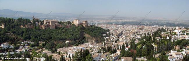 La Alhambra y el Generalife; Vistas desde el Mirador de San Miguel Alto