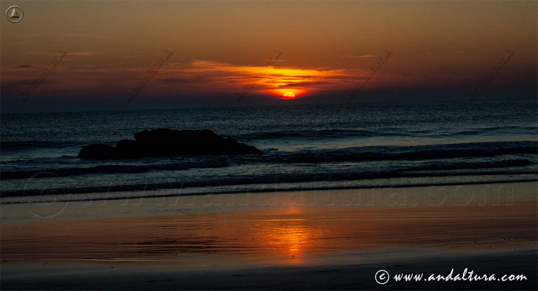 Atardecer sobre el Océano Atlántico - Tarifa -
