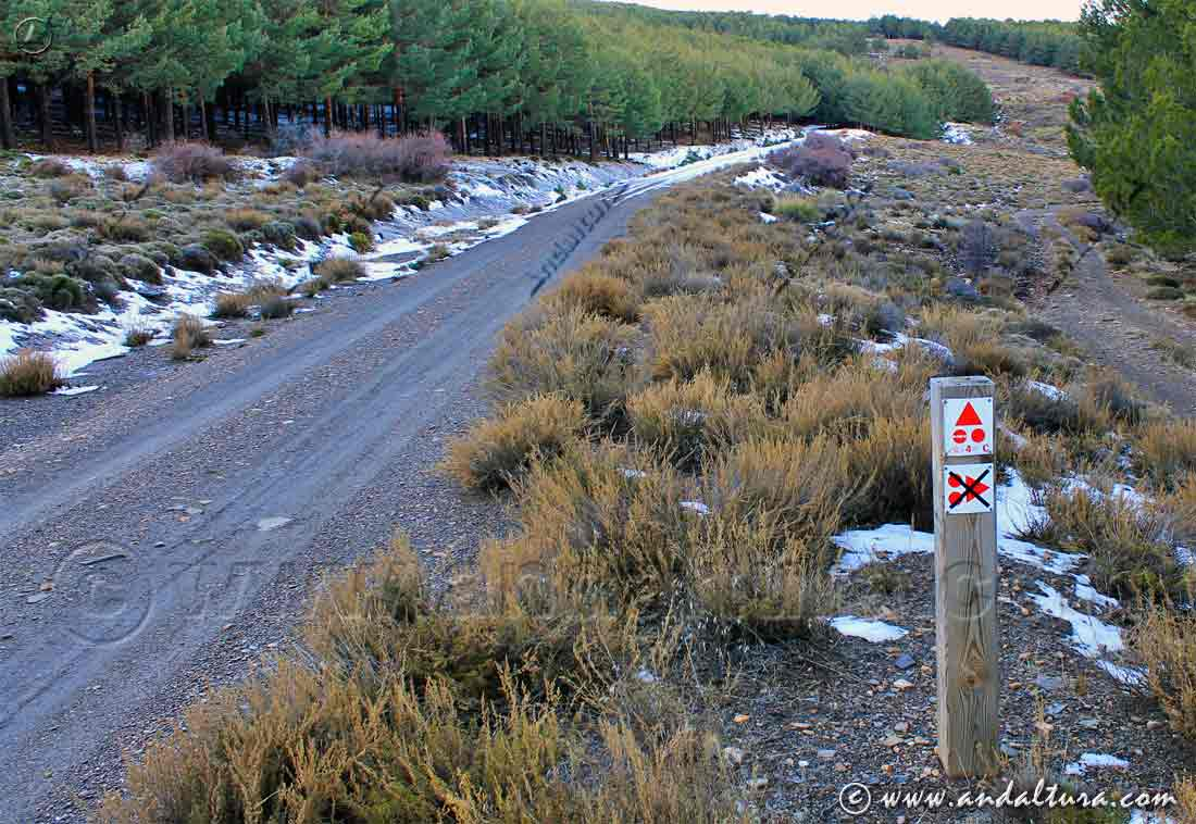 Señal indicativa de la Ruta BTT Transnevada
