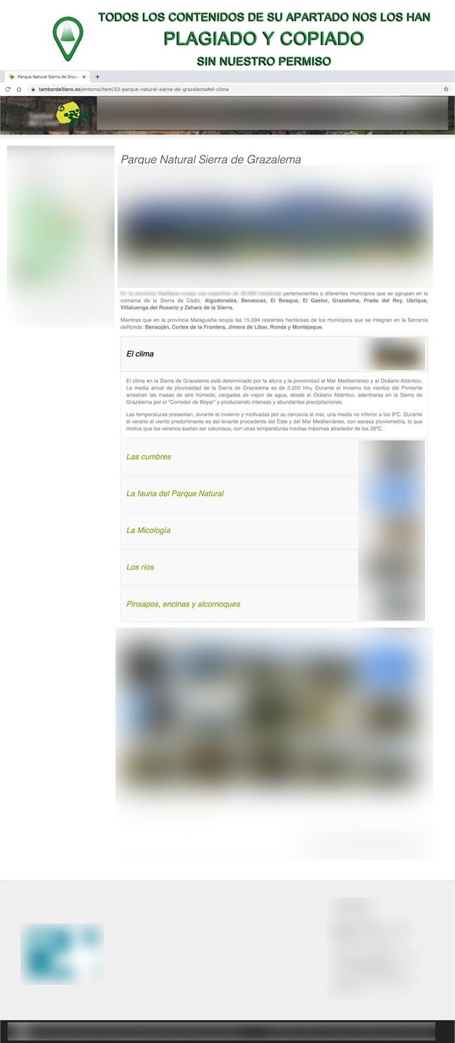 Plagiados contenidos del Clima del Parque Natural Sierra de Grazalema