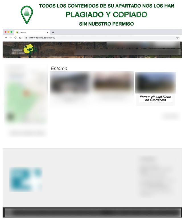 Plagiados los contenidos del Parque Natural Sierra de Grazalema