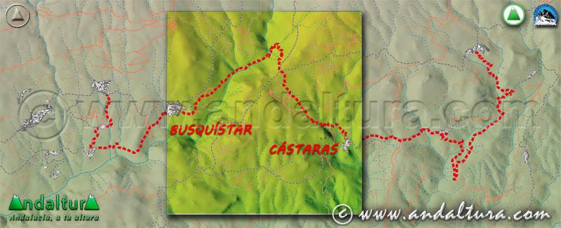 Mapa de situación del segundo tramo de la Ruta Medieval por la Alpujarra