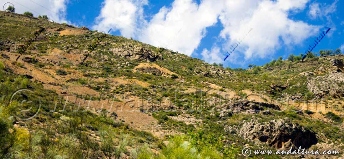Catas minera en la Mina de la Retama