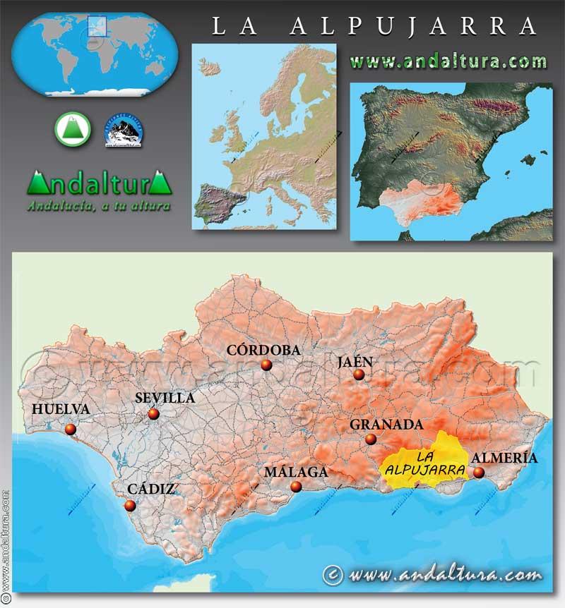 Mapa de situación de la Alpujarra
