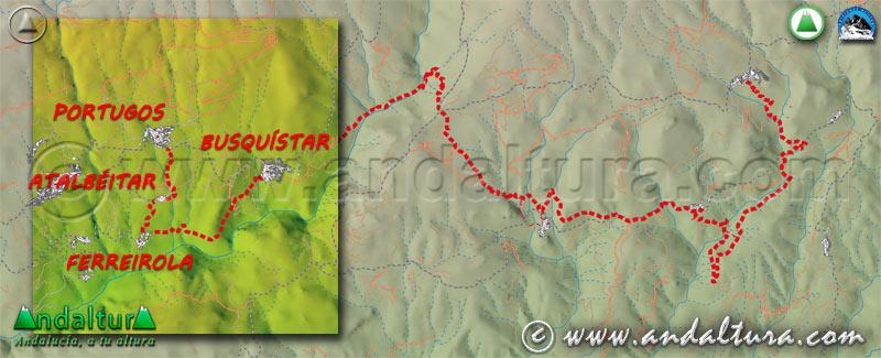 Tramos ruta medieval alpujarra: Pórtugos - Busquístar