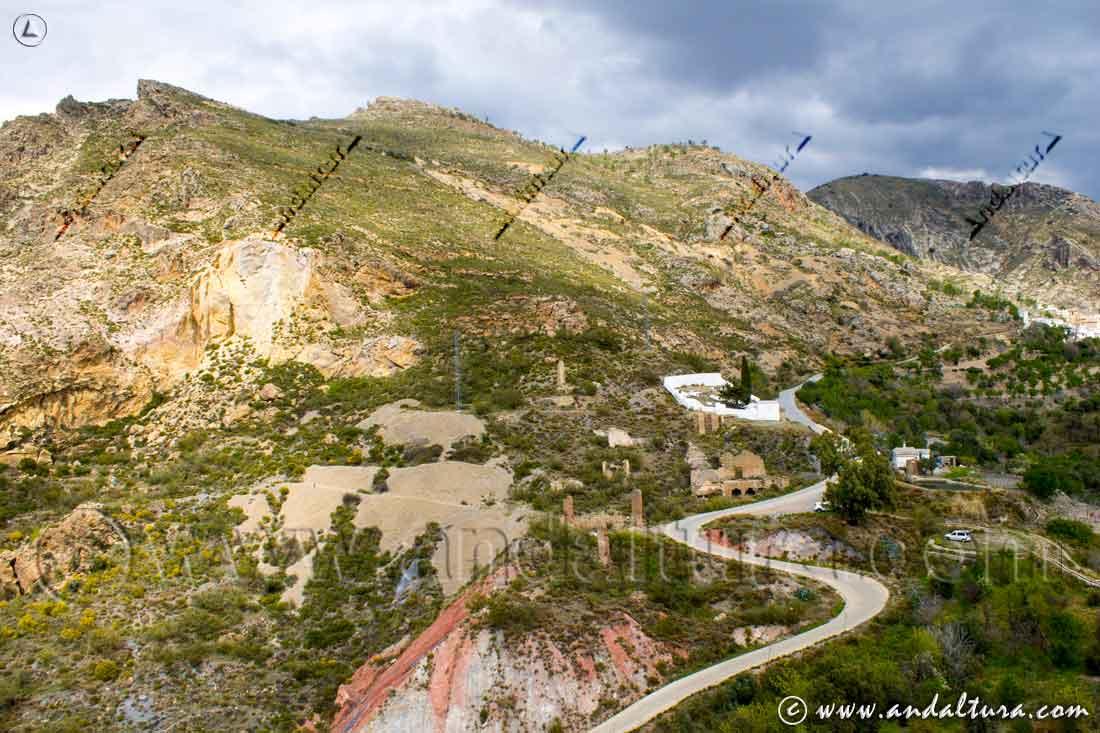 Vista de parte del Tramo de la Ruta Medieval por la Alpujarra de Cástaras a Juviles