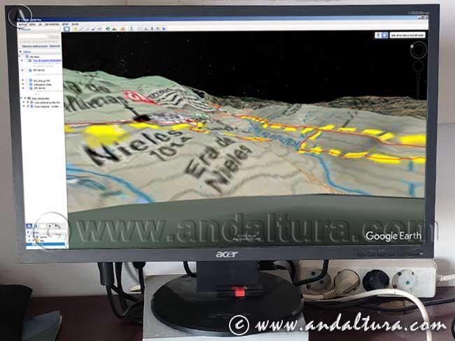 Ejemplo para la Descarga de Track y Waypoints kml Rutas de Andaltura