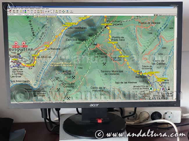 Ejemplo para la Descarga de Track y Waypoints plt Rutas de Andaltura