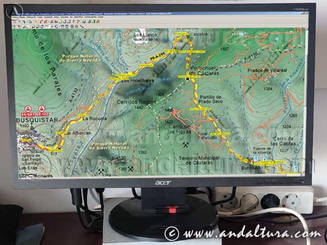 Ejemplo para la Descarga de Track y Waypoints trk Rutas de Andaltura
