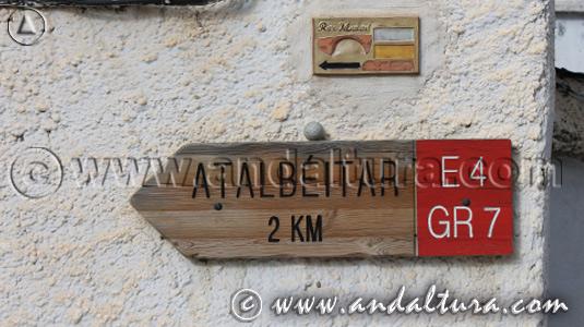 Señales de Senderos Homologados por la Alpujarra