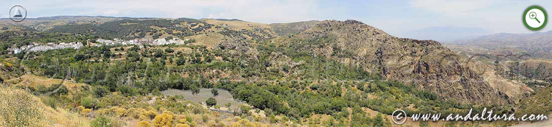 Vista de la subida de la Ruta Medieval de la Alpujarra de la Alberca Medieval a Juviles