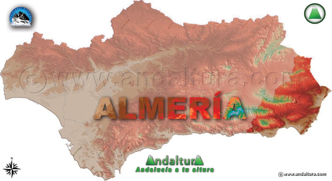 Provincia de Almería: Mapa de Situación en Andalucía