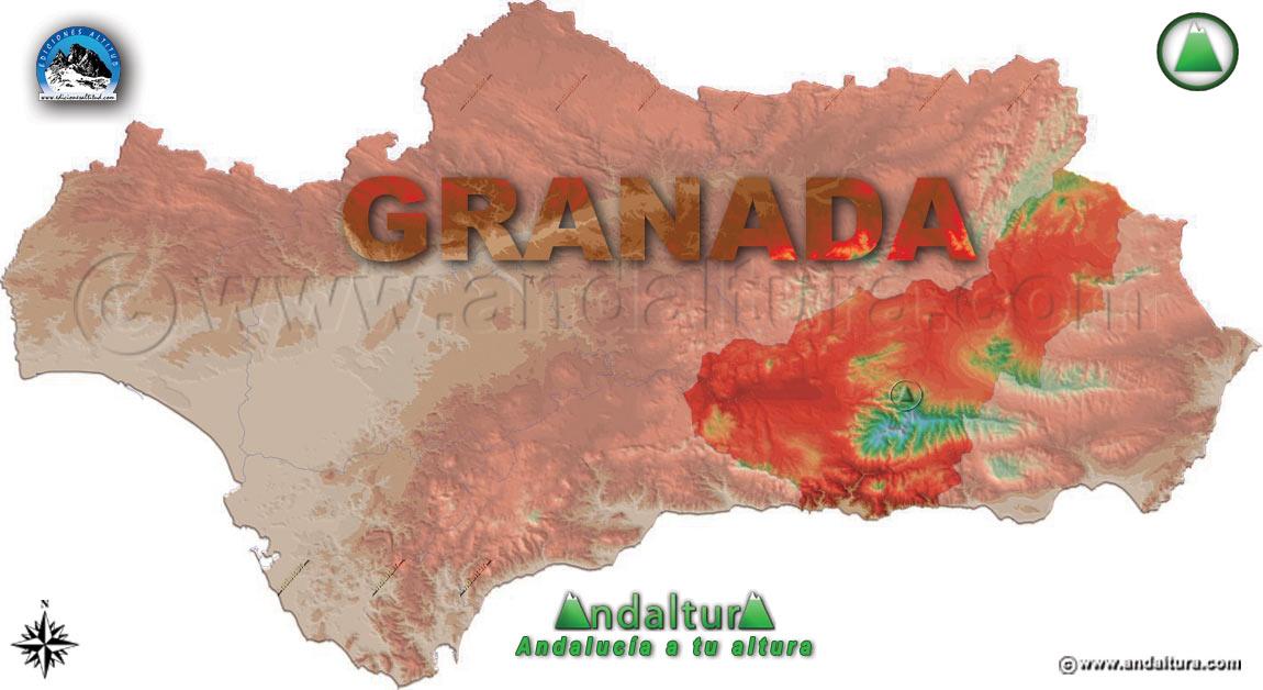 Provincia de Granada: Mapa de Situación en Andalucía