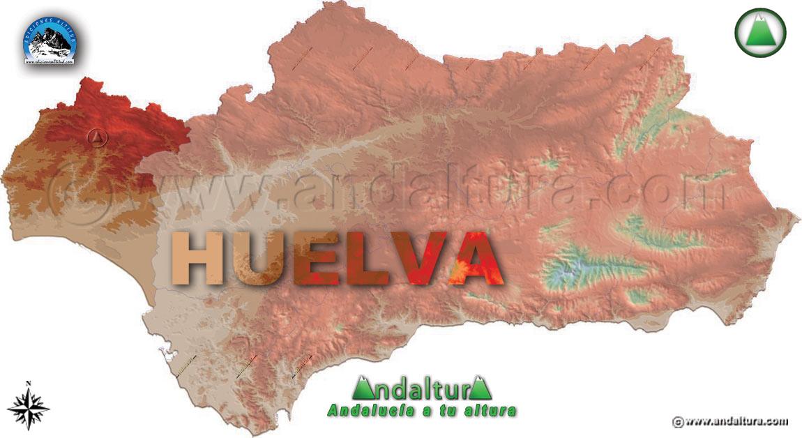 Provincia de Huelva: Mapa de Situación en Andalucía