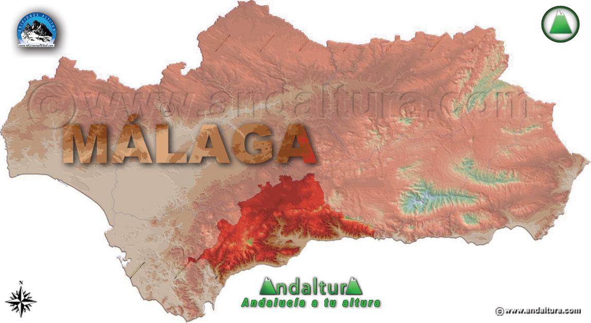 Provincia de Málaga: Mapa de Situación en Andalucía