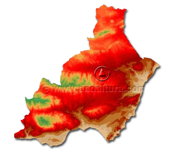 Mapa Provincia de Almería: Acceso Provincias de Andalucía
