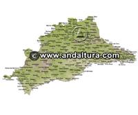 Mapa de Picos y Vértices Geodésicos de Málaga