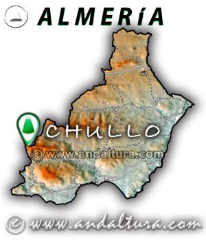 Mapa de situación de El Chullo - Almería -