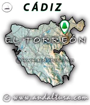 Mapa de situación de El Torreón - Cádiz -