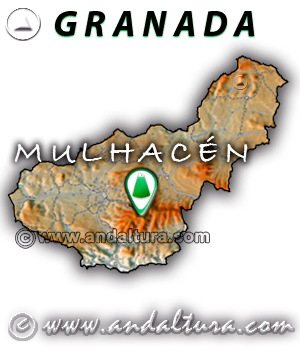Mapa de situación del Mulhacén - Granada -