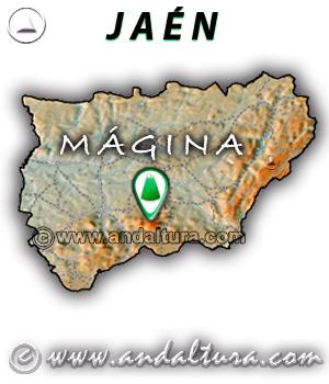 Mapa de situación de Mágina - Jaén -