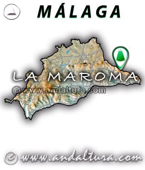 Mapa de situación de La Maroma - Málaga -