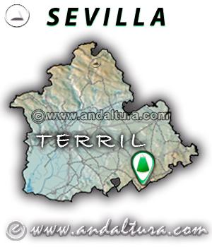 Mapa de situación de El Terril - Sevilla -