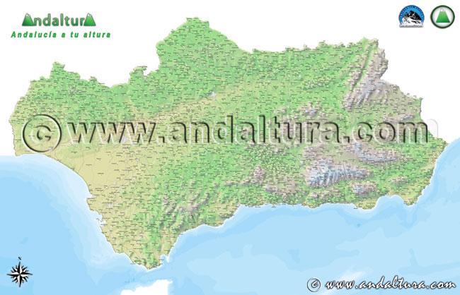Accese a la zona de Descarga del Mapa de Andalucía Calibrado e Cotas y Vertices Geodésicos de la Colección Usa Andaltura